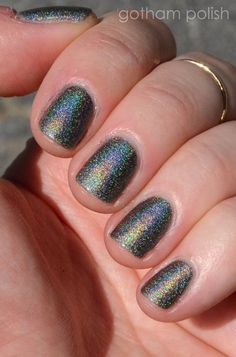 DREAM CLOUD 5ml Mini Holographic Nail Polish: Custom Indie Lacquer Handmade Grey Gray Scattered Linear Holo Varnish