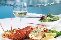 Oyo restaurant at the Waterfront in Cape Town is known for its delicious seafood especially crayfish. Lobster Restaurant, 185, Wine Cheese, Restaurant Recipes, Love Is Sweet, Fruit, White Wine, The Hamptons, Food Photography