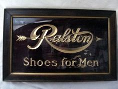 Antique Shoe Sign
