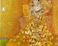 The Woman in Gold, or Portrait of Adele Bloch-Bauer I, Gustav Klimt Gustav Klimt, Art Klimt, Adele, Most Expensive Painting, Woman In Gold, Famous Portraits, Drawn Art, Famous Artists, Pablo Picasso