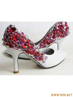 ColorfulCrystalWhiteWeddingShoes2012