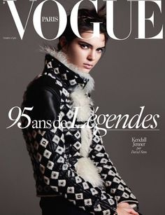 Kendall Jenner by David Sims on the cover of Vogue Paris October 2015