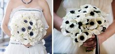 white+and+black+wedding+flowers