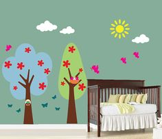 Wall Decals  Retro Tree Wall Decal  Childrens by StudioWallArt, $138.00