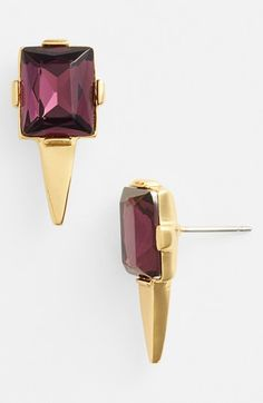 Vince Camuto 'Rope Royalty' Stud Earrings available at #Nordstrom // Was: $28.00 Now: $18.76  33% OFF Purple and Silver color