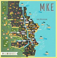Map of Milwaukee by Manuja Waldia