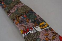Silk Necktie Tie Where's Waldo Schreter Vintage 1992 Bears Zoo Christmas #schreter #Tie