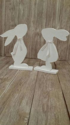 Different colored rabbit pairs These beautiful rabbit pairs are a must for . Different colored rabbit pairs These beautiful rabbit pairs are a must for . Dyi Crafts, Felt Crafts, Easter Crafts, Wood Crafts, Wood Projects, Craft Projects, Projects To Try, Happy Easter, Easter Bunny