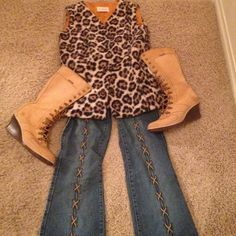 Jeans Tantalizing jeans, front of jeans have criss  cross tie up/see thru style, side of jeans and hem are frayed edges, see pic 4, sexy yet sophisticated!, pairs well with your fav boot/bootie Younique Original Jeans Boot Cut