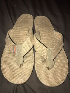 5b9555244290 EUC Rainbow Women s Natural Hemp Burlap Brown FlipFlops Size 7-8 MEDIUM   fashion  clothing  shoes  accessories  womensshoes  sandals (ebay link)