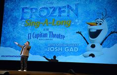 This past weekend, a theater of lucky Frozen fans got a cool surprise when Olaf himself, Josh Gad, made an appearance at a sing-along showing of the Academy Award nominated film.