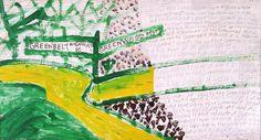"Ky Folk Art - ""Greenbelt Highway"" - by: Mark Anthony Mulligan #folk #art"