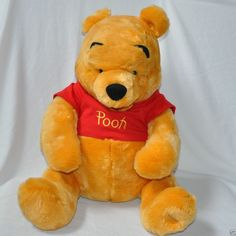 Disney Store Exclusive Winnie the Pooh Plush Large Sits 17 inches Stuffed Animal #Disney