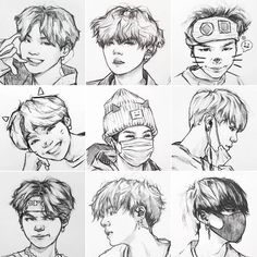 That's a really cute Yoongi here Kpop Drawings, Art Drawings Sketches, Pencil Drawings, Fanart Bts, Dibujos Cute, Bts Chibi, Foto Bts, Bts Pictures, Bts Boys