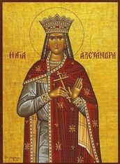 Orthodox icon of Saint Alexandra, Wife of Diocletian