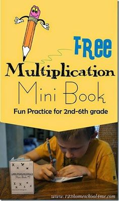 Multiplication Mini Book - this is such a fun way for kids to practice that is way better than math worksheets! FREE printable for 2nd grade 3rd grade 4th grade 5th grade and 6th grade #mathtutor