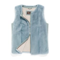 Roundneck vest in mink fur lined in knitted baby cashmere, with sides in plongé leather. A casual, versatile piece with a fitted cut that is perfect under a caban or coat in the winter season.