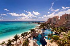 Cancun Luxury Hotels Fiesta Americana Grand Coral Beach Hilton Cancun Golf and Spa Resort Cancun All Inclusive, Cancun Resorts, Mexico Resorts, Beach Resorts, Hotels And Resorts, Luxury Hotels, Caribbean Vacations, Cancun Mexico, Cozumel
