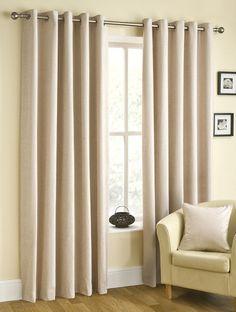 Rico Eyelet Natural Ready Made Curtains, from £37 per pair