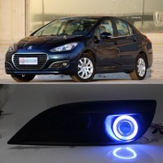129.99$  Watch now - http://aliq3w.worldwells.pw/go.php?t=1997531077 - New Innovative COB Fog Light Angel Eye Bumper Projector Lens for Peugeot 308 2012