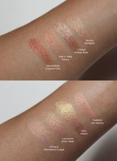Rose Gold eyeshadows | beautiful Fall color.