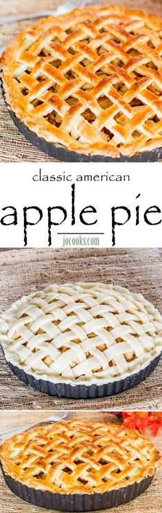 Classic American Apple Pie – Beautiful and Delicious Apple Pie that's easy to make. Learn how to make your own pie crust and a delicious homemade filling.