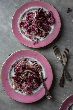 Radicchio & Borlotti Bean Salad - From My Dining Table by Skye McAlpine Rich Recipe, Bean Salad, Apple Cake, Salad Bowls, Food Styling, Entrees, Food Photography, Beanie, Lunch