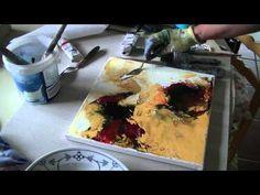Acrylmalerei abstract acrylic painting Demo Abstraktes Bild malen Summer Colours - YouTube