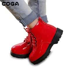 Kids Shoes Martin Boots Children Snow Shoes Motorcycle Boots Autumn And  Winter 2018 Children Of Leather Waterproof Sneakers 3380ff5e567