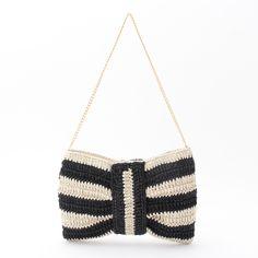 OPAQUE crochet clutch bag