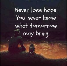 Never lose hope. You never know what tomorrow may bring. #ttc #inspiration #infertilitybattle