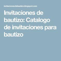Invitaciones de bautizo: Catalogo de invitaciones para bautizo