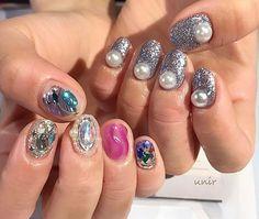 Instagramのネイル画像を自動でピンする。 Short Nail Designs, Perfect 10, Short Nails, Nail Ideas, Fingers, Swag, Polish, Makeup, Beauty