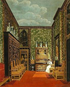 Charles Wild - The Green Closet at Frogmore (from Pyne's 'The History of Royal Residences' engraved by William James)