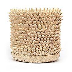 Hand-Knit Mohair Quill Textured Basket from our online Bazaar. #serenaandlily