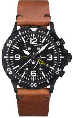 cd09b094e Sinn Watch 757 S UTC Vintage Cowhide Brown #add-content  #bezel-unidirectional