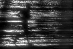 On the beach - Shooting from behind a curtain of a beach bar.