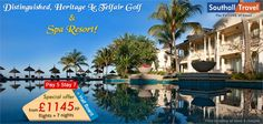 Indulge in an exemplary tryst with the beauty of Mauritius at the Heritage Le Telfair Golf & Spa Resort, for a special price! Hurry Book Now!  More Details here http://www.southalltravel.co.uk/holidays/indian-ocean/mauritius/letelfair.aspx