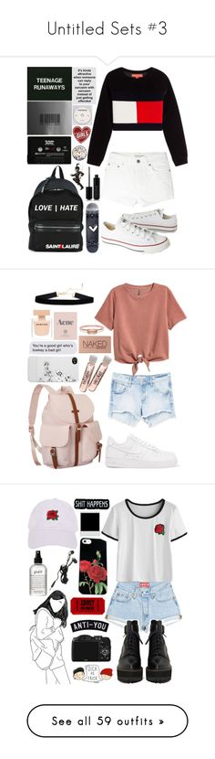 """""""Untitled Sets #3"""" by diamonds610 ❤ liked on Polyvore featuring Hilfiger Collection, Yves Saint Laurent, Converse, CASSETTE, Marc Jacobs, MANGO, H&M, NIKE, Incase and Herschel Supply Co."""