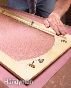 Turn the cabinet doors in the kitchen into glass-fronted cabinets with this DIY tutorial