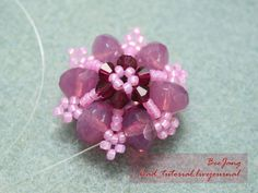 Bead Tutorial - [Tutorial] Flower Motif #5