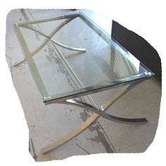 Absa 1200x780 Glass Coffee Table Polished Stainless Steel Brand NEW   eBay