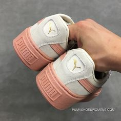 387c6b53995a Puma Basket Platform 363906-12 Womens Originals Suede Causal Shoes Pink  Cream White