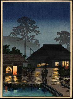 Tsuchiya Koitsu: Long Spell of Rain - 長雨 - Ohmi Gallery