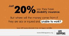 If you rely on your paycheck, you need disability insurance.   We can help you understand what it is and what it does. Disability Insurance, Life Insurance, Sick, Sayings, Lyrics, Quotations, Idioms, Quote, Proverbs