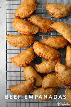 These are delicious. I made them a bit bigger my batch so they were more like the size I remember empanadas being. Make them, freeze them, then bake them whenever. Perfect for parties and entertaining. Best Appetizer Recipes, Best Appetizers, Mexican Food Recipes, Dinner Recipes, Best Ground Beef Recipes, Ground Beef Recipes For Dinner, Comida Latina, Catering, Beef Dishes