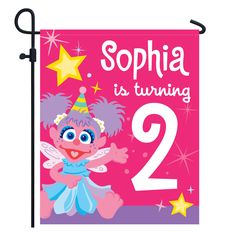 The Official PBS KIDS Shop | Sesame Street Abby Cadabby Birthday Yard Sign - Party Supplies