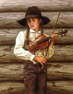 I've never had the pleasure of meetin this lady but here Paintings a absolutly amazing,( Cowboy) ,,,Carrie Ballantyne (1956, American) by lizzie