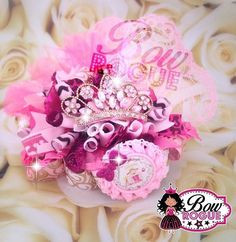 Pinkalicious Funky Loopy Hairbow by BowRogue on Etsy