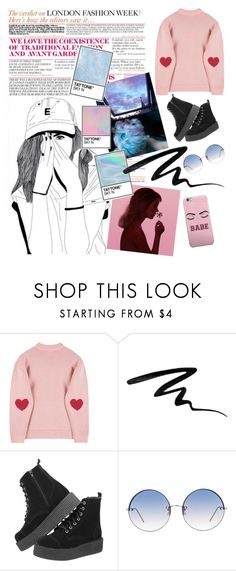 """Untitled #66"" by elsrabe ❤ liked on Polyvore featuring Too Faced Cosmetics, Linda Farrow, Pink, set and fashionset"